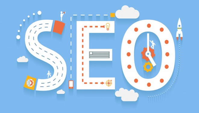 seo service in flat image